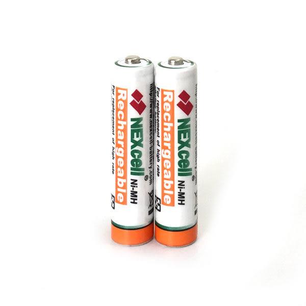 【2顆裝】NEXcell 耐能 AAA 無線電話用4號鎳氫充電電池 1000mAh高容量
