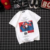 衣服男士短袖T恤韓版潮流寬鬆嘻哈印花ins超火的上衣體恤情侶〖夢露時尚女裝〗