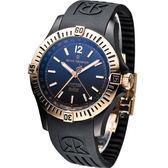 REVUE THOMMEN 梭曼飛官任務 機械腕錶-(16070.2884)玫瑰金色框黑面