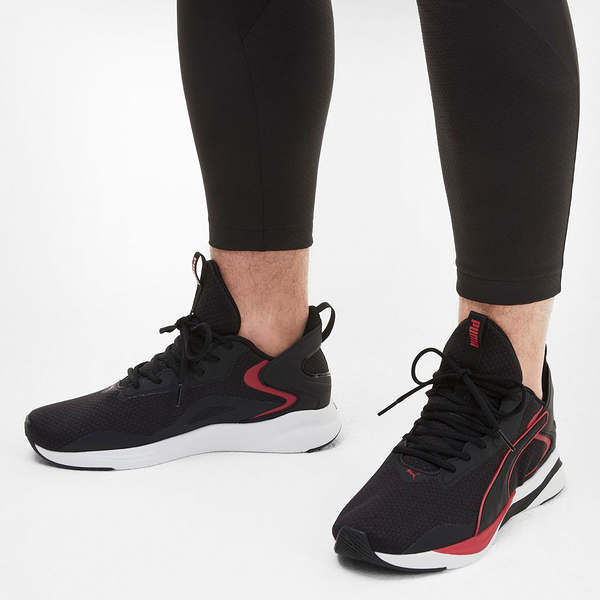 PUMA-SOFTRIDE RIFT TECH 男款黑色慢跑運動鞋-No.19373701
