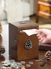 創意實木硬幣存錢筒紙幣存錢筒兒童大號收納盒禮品YYJ 易家樂