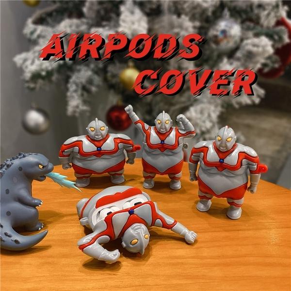 Airpods Pro 專用 1/2代 台灣發貨 [ 肥宅奧特曼 ] 藍芽耳機保護套 蘋果無線耳機保護