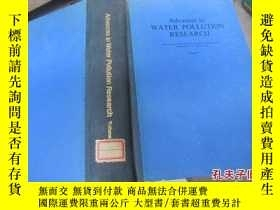 二手書博民逛書店advances罕見in water pollution res