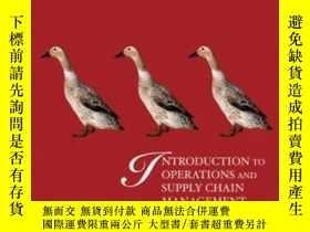 二手書博民逛書店Introduction罕見To Operations And Supply Chain Management-運