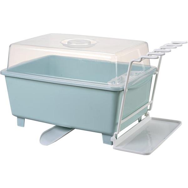 瀝水架碗碟置物架家用碗架裝碗筷收納盒【步行者戶外生活館】