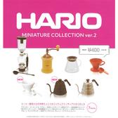 全套7款【日本正版】HARIO 迷你咖啡器材 V2 扭蛋 轉蛋 模型 迷你手沖壺 台玻哈利歐 kenelephant - 455951