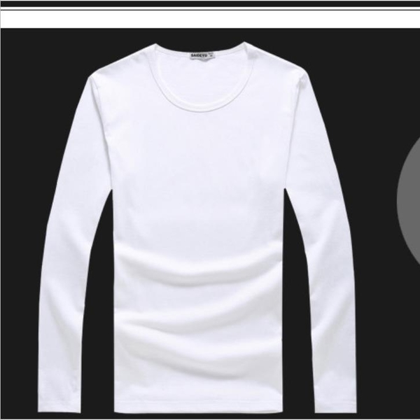 現貨 長袖T恤圓領純色純棉打底衫寬松白色體?【極簡生活】