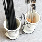 陶瓷筷子筒瀝水 家用筷子桶筷子盒 北歐收納置物架筷籠筷筒筷子籠   可然精品鞋櫃