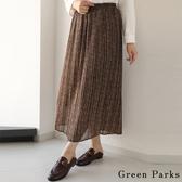 ❖ Autumn ❖ 小碎花雪紡百褶裙 - Green Parks