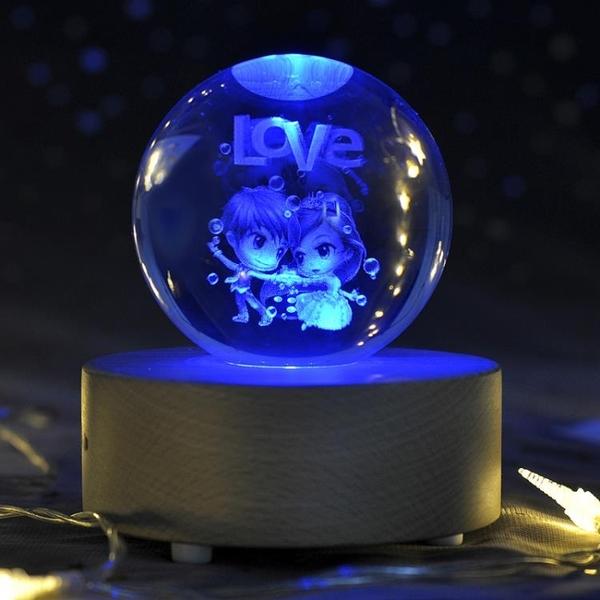 水晶球蒲公英木質音樂盒八音盒送女生女孩兒童生日禮物創意情人節-享家
