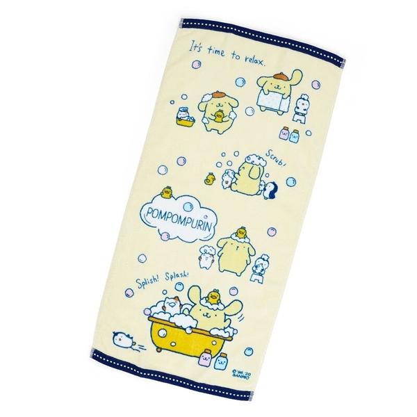 小禮堂 布丁狗 純棉割絨長毛巾 純棉毛巾 長巾  34x72cm (黃藍 牛奶泡泡浴) 4550337-38672
