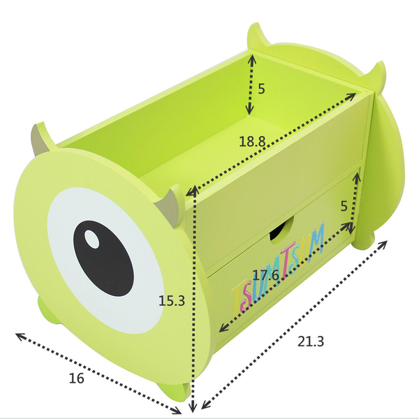 ONE HOUSE-迪士尼-大眼仔造型收納櫃/桌上收納盒/筆盒499專案