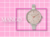【時間道】MANGO俏麗簡約仕女腕錶 / 菱格粉紅面鋼帶(MA6721L-10)免運費