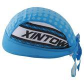 自行車頭巾 吸汗-藍海圓鏈點點設計男女單車運動頭巾73fo72【時尚巴黎】