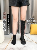 長靴 長筒靴女秋冬季新款加絨百搭顯瘦瘦過膝高筒中筒馬丁騎士長靴 風尚