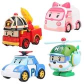 銀輝poli警車珀利變形兒童男孩玩具車全套警長機器人海利羅伊安巴