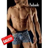 Aubade man-舒棉M-L平口褲(野性海洋2件組)
