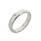 Tiffany & Co 蒂芬妮 簡約造型鉑金戒指 Band Ring 4mm 14.5號 PT950  【BRAND OFF】