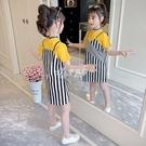 吊帶裙 女童裙子夏裝新款洋氣洋裝韓版女孩童裝夏季兒童短袖吊帶裙
