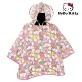 日本限定 三麗鷗 HELLO KITTY 凱蒂貓 繽紛滿版 兒童 雨衣 (100~110cm)