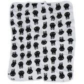 嬰兒毯 澳洲 Huxbaby 有機棉嬰兒毯 / 毯子 / 嬰兒被 - 白底黑色兔子 HB387