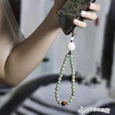 手機吊墜 手機掛飾掛件吊墜女款簡約天然風化菩提根手機掛錬手機掛 Cocoa