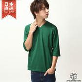 短袖T恤 6分袖V領素TEE