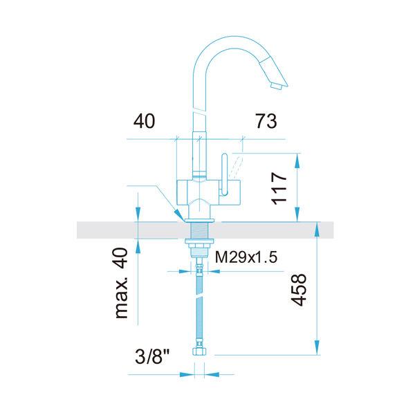 【歐雅系統家具】ARWA  89548.095  瑞士頂級龍頭
