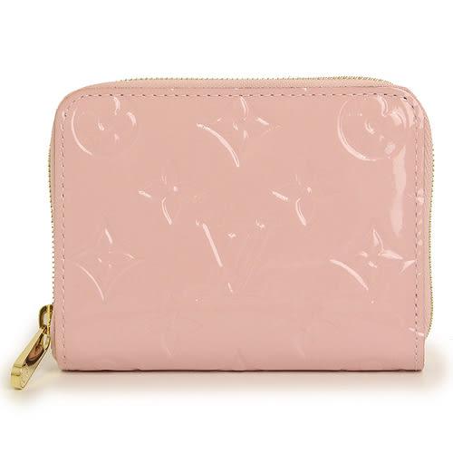 茱麗葉精品 全新精品Louis Vuitton LV M61231 Vernis漆皮壓紋信用卡零錢包.粉紅色(預購)