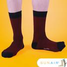sunair 滅菌除臭襪子- 時尚紳士襪L(25~29) (黑+紅) /SA0802