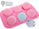 心動小羊^^6連傳統宗教蓮花月餅模 免切 手工皂DIY材料 手工皂模具 模型 蛋糕模