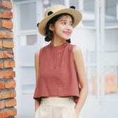 無袖T恤女學生韓版2018新款夏裝