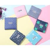 韓版文青環保印花折疊購物袋(1入)【小三美日】款式隨機
