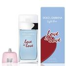 Dolce & Gabbana 淺藍示愛宣言女性淡香水 100ml 隨機搭贈4ml 以上小香水