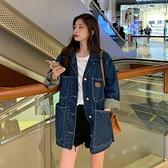 牛仔外套 日繫古著牛仔外套女春秋2021新款韓版網紅寬鬆顯瘦長袖夾克上衣潮 韓國時尚週 免運