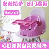 便攜餐椅外出簡易飯桌可摺疊1-3歲吃飯座椅餐桌椅子 聖誕節全館免運HM