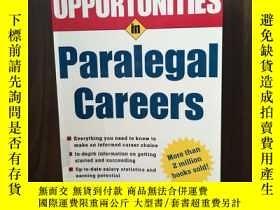 二手書博民逛書店Opportunities罕見in Paralegal Careers (Opportunities In…Ser