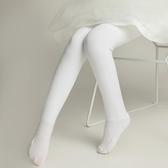 女童連褲襪加絨加厚保暖寶寶打底褲兒童白色舞蹈連腳襪子女春夏季