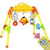 新生嬰兒玩具健身架 兒童健身器寶寶音樂早教玩具0-1歲3-6-12個月  igo 童趣潮品