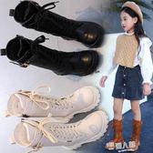 女童靴子秋季新款韓版公主兒童中筒靴秋冬高筒靴雪地靴長靴女  9號潮人館