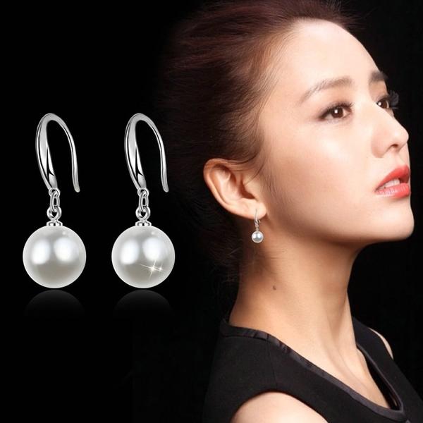 【免運到手價$98】人造珍珠耳環韓國時尚百搭耳墜長款氣質女甜美耳飾耳釘配飾品