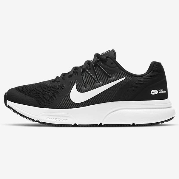 NIKE Zoom Span 3 女鞋 慢跑 氣墊 緩震 靈敏 穩定 黑白【運動世界】CQ9267-001