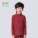 【WIWI】MIT溫灸刷毛立領發熱衣(醇酒紅 童70-150)
