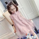 女童旗袍連身裙無袖背心紗裙洋裝薄款公主裙【奇趣小屋】