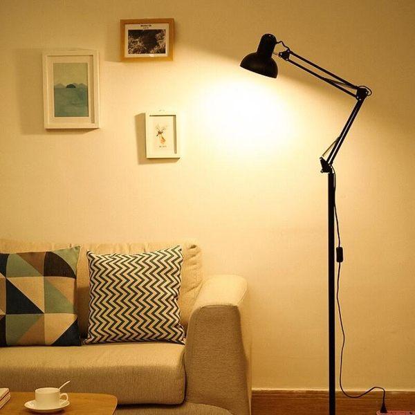 雙11限定立燈 暖光護眼落地書房站立式高腳高檯燈可調節立地式立燈紋繡美容專用jj