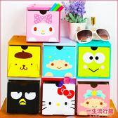 《現貨》Hello kitty 美樂蒂 布丁狗 雙子星 酷企鵝 正版 積木收納盒 聖誕禮物 B01311