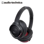 【audio-technica 鐵三角】ATH-WS660BT 便攜型耳罩式耳機 -黑紅