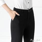 西裝褲夏黑色直筒褲上班職業顯瘦正裝工作褲工裝高腰薄款西褲女 果果輕時尚