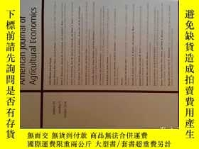 二手書博民逛書店American罕見Journal of Agricultural Economics (AJAE) 2016 1