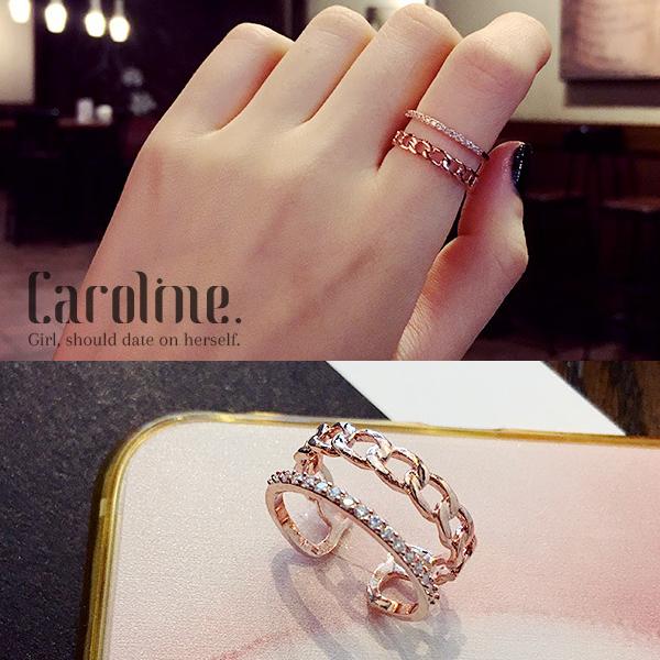 《Caroline》★韓國流行時尚甜美魅力、迷人風采無限動人時尚戒指69270